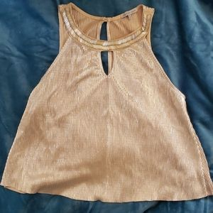 Crimped gold top